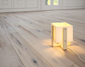 3D Chateau Antique White wooden floor by DuChateau