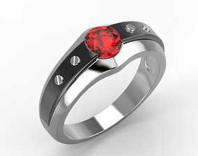 the ring for man with bolts 3D print model