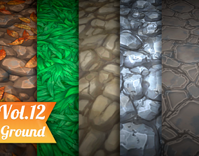 3D asset Stylized Ground Vol 12 - Hand Painted Texture