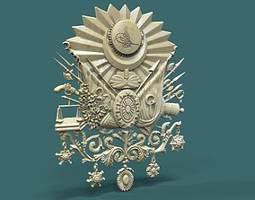 Coat of Arms of the Ottoman Empire 3d stl model for cnc