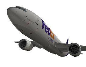 3D model Boeing 777-200F FedEx