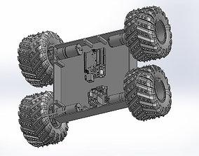 Printable 4 wheel robot