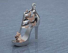 3D print model ladies shoes necklace