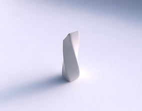 3D print model Vase twisted bent rectangle smooth