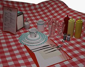 Set of Dishes -Diner 3D