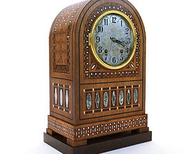 Vienna secession table clock - Austria 1905 3D model