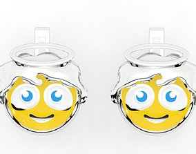 3D printable model childrens earrings smile angel