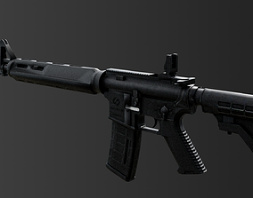 M4A1 RIS High detail Low-poly 3D model game-ready