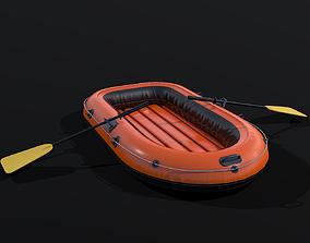 Rubber Boat 3D asset