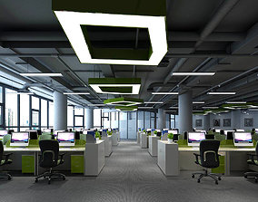 3D Office meeting room reception hall 01