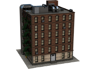3D asset tenement - american reference