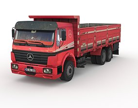 3D asset Low poly Mercedes-Benz 2521 Truck