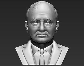 Mikhail Gorbachev bust 3D printing ready stl obj
