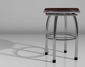 1950s-style Stool 3D model
