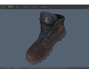 Boot 3D model low-poly