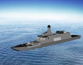 Stealth Frigate 2 3D model