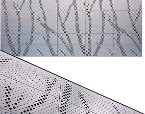 3D model perforated metal panel N22