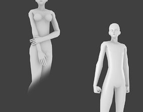 3D model Simple Low-poly Base Mesh - Couple-Pack