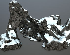 3D asset game-ready rock gate