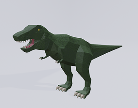 animated 3d low poly T-Rex