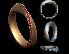 jewellery twisted ring 3D printable model