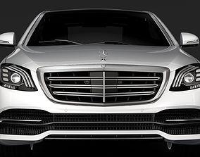 3D model Mercedes Benz S 560 4MATIC W222 2018