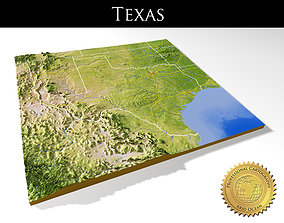 Texas High resolution 3D relief maps