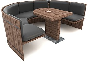3D model cafe chair dining