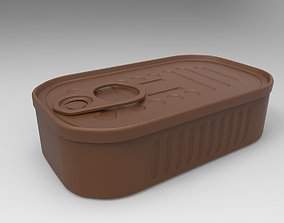 canned food 3D printable model