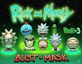 3D printable model Rick and Morty
