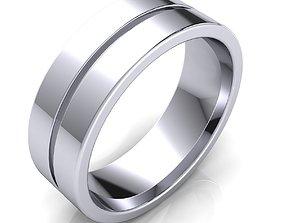 Plain Band Ring 3D print model
