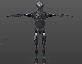 3D asset Robot Low-Poly Model