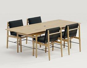 3D model DWR Finn dining table and Finn dining chair