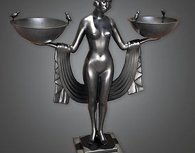 Statue 01 Art Deco - PBR Game Ready 3D asset
