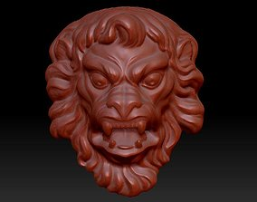 3D Lion mascaron
