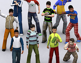 3DRT - Realpeople Kids Boys animated