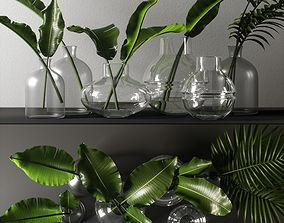 decorative branch set 3D