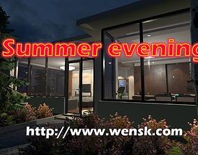 Summer Evening 3D asset