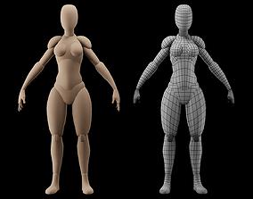 3D asset Base Mesh Female