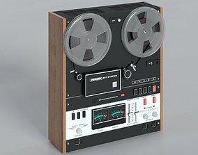 retro 3D model Soviet Bobbin Tape Recorder Mayak-001