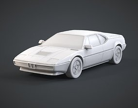 Retro Sports Car 3D printable model