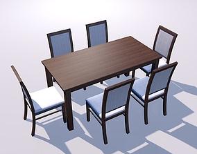 wood 3D model Wood table