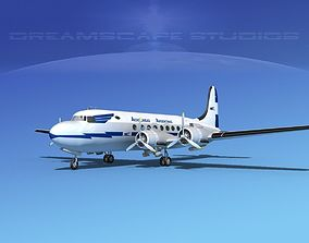 3D Douglas DC-4 Aerolineas Argentinas