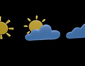 Weather symbol 3D model