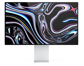 osx 3D model Apple Pro Display XDR 2020