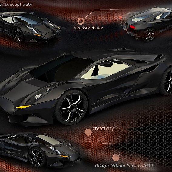 Vikintador futuristic concept car