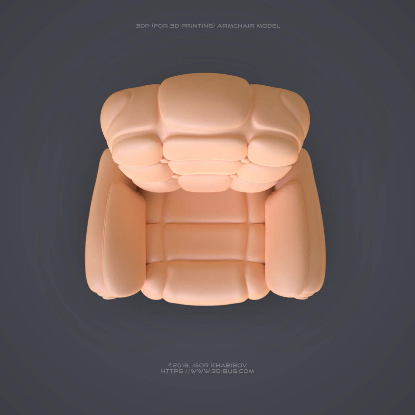 Armchair for 3D Printing