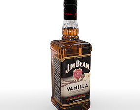 3D Jim Beam Vanilla 70cl Bottle