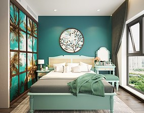 Indochina Style Bedroom 3D
