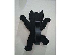 Hanging kitten hook 3D print model